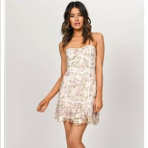 Floral stitched Lacey cocktail dress